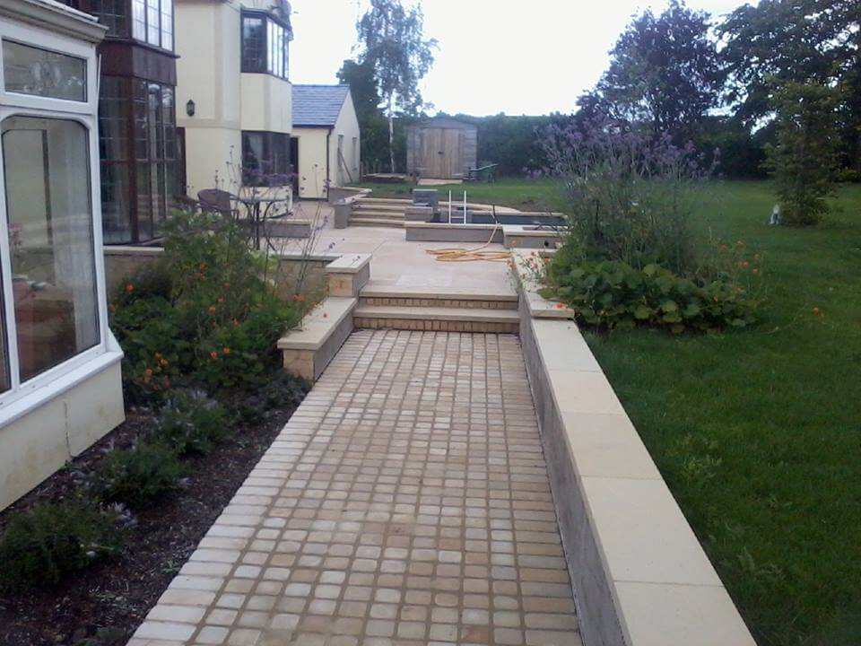 Large Garden Patio, Seating and Path – Badgeworth, Churchdown