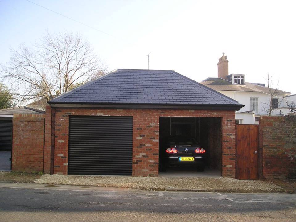 Double garage gloucester road cheltenham grove for Construction garage double