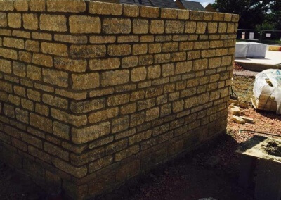 First Lift Single Garage Stone Work – Bishops Cleeve, Cheltenham