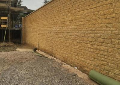 Natural Stone Boundary Wall – Budgens, Winchcombe